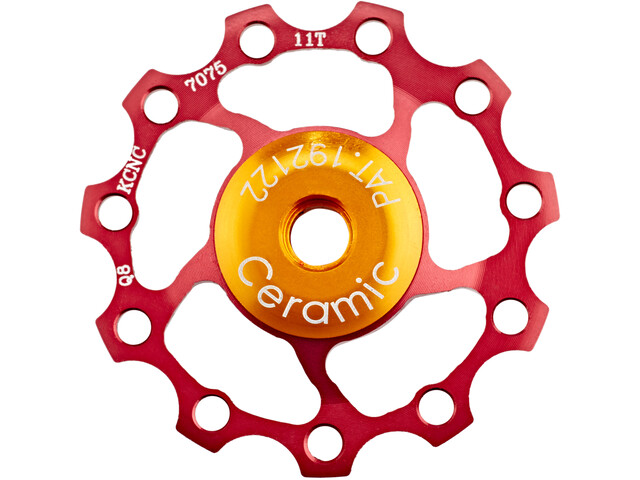 KCNC Jockey Wheel 11T Ceramic Bearing red